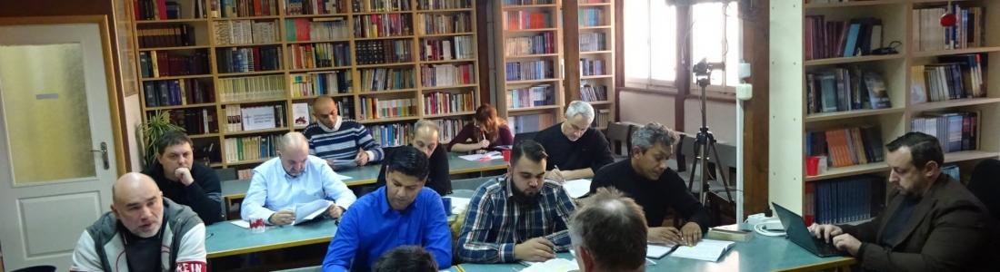Dr. P. de Vries geeft college over de Profeten en Psalmen